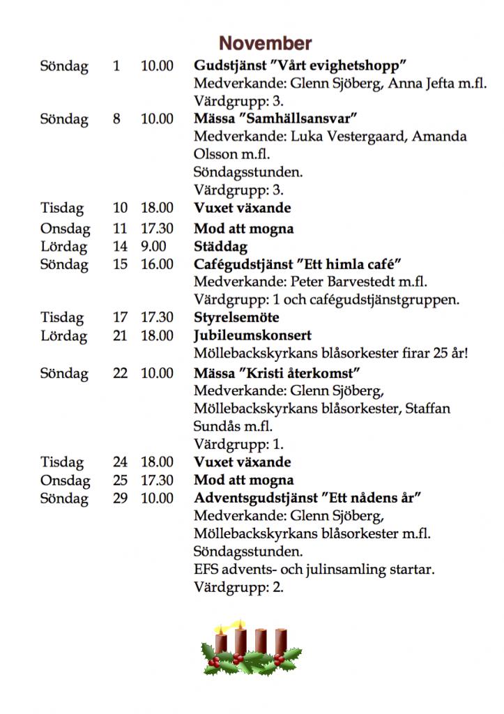 Program hösten 2015 november