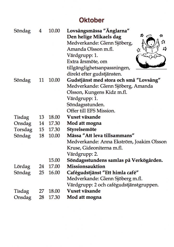 Program hösten 2015 oktober